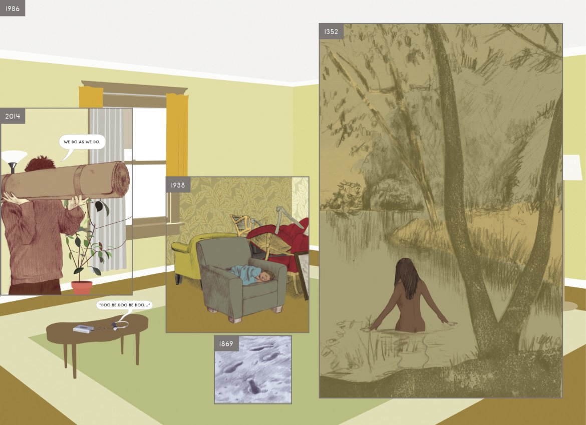Richard McGuire Here, Pantheon Books, New York 2014-4-ZeitRaum-MuseumAngewandteKunst