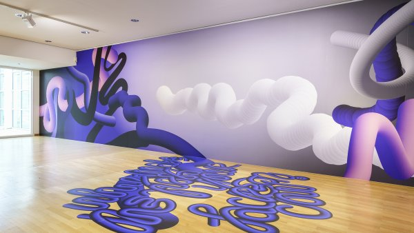 """Installationsansicht / Installation view """"Aus heutiger Sicht. Diskurse über Zukunft"""""""
